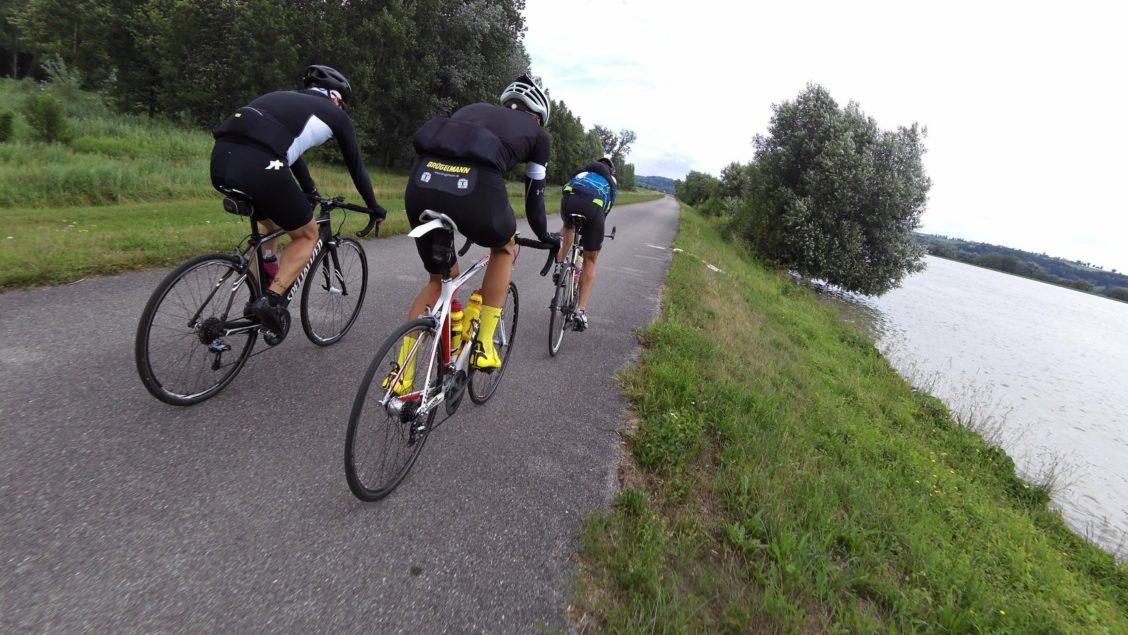 Rennradfahren in der Gruppe