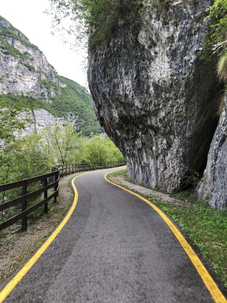 Radweg durch die Sarca Schlucht