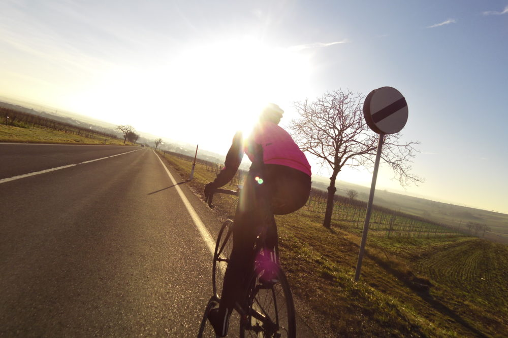 Rennrad fahren im Winter